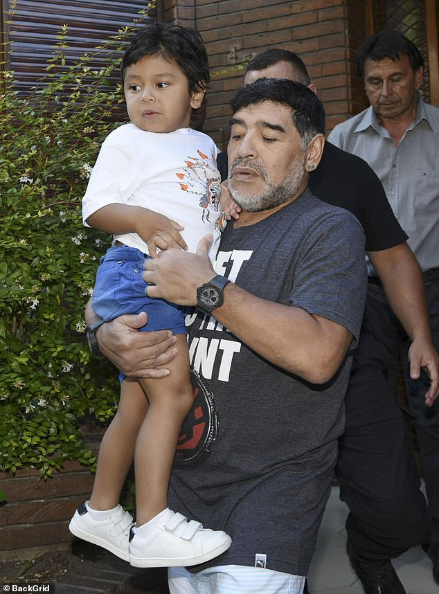 HOURS BEFORE DEATH, MARADONA RECORDED A MESSAGE ABOUT HIS 7-YEAR OLD YOUNGEST SON