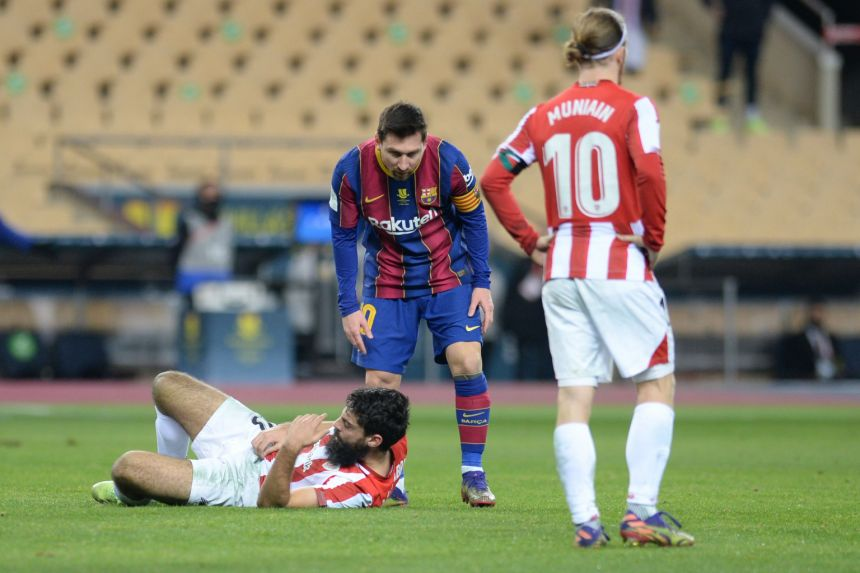 MESSI FACES BAN OVER RED CARD