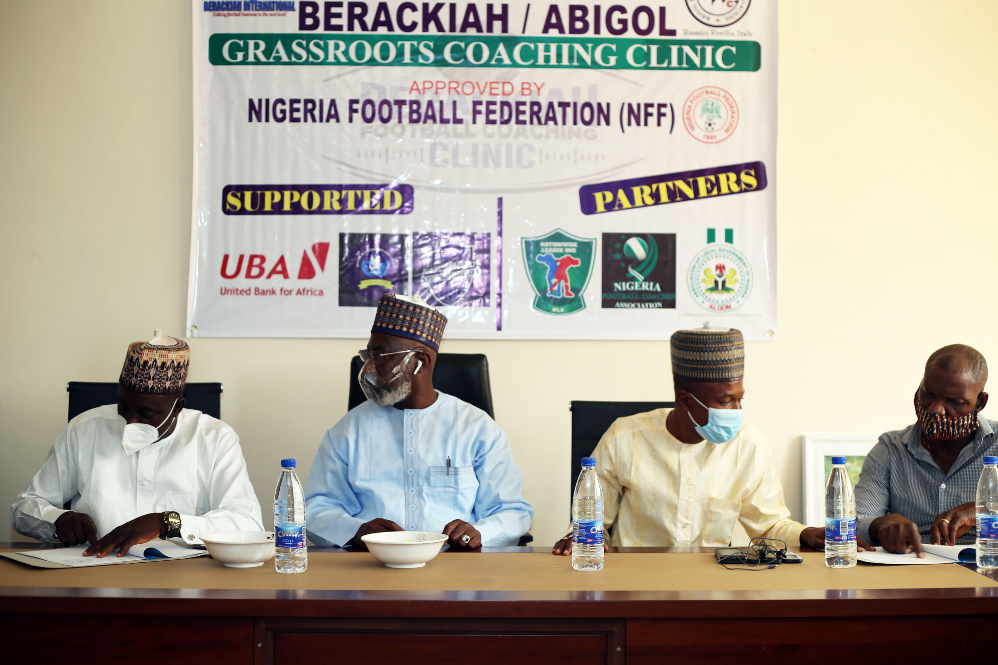 GRASSROOTS FOOTBALL: NIGERIA'S NATIONWIDE LEAGUE ONE SIGNS MOU WITH BERACKIAH FOOTBALL COACHING CLINIC