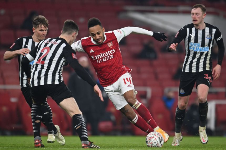 ARSENAL BEGIN FA CUP DEFENCE WITH 2-0 WIN OVER NEWCASTLE AFTER EXTRA TIME