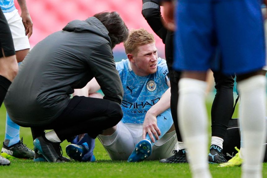 DOUBLE 'WAHALA' FOR MAN CITY OVER DE BRUYNE INJURY AHEAD OF PSG CHAMPIONS LEAGUE TIE