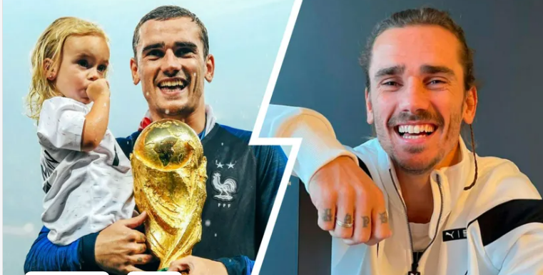 PRECISION STRIKER!  ANTOINE GRIEZMANN WELCOMES HIS THIRD CHILD, ALL BORN ON THE SAME DAY