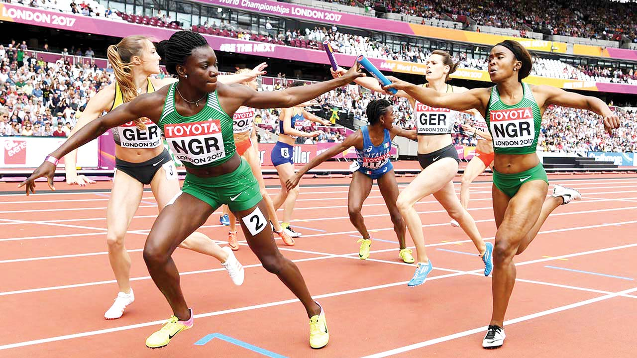 NIGERIA MOVE WITHIN FIVE PLACES OF QUALIFYING FOR TOKYO 2020 RELAY
