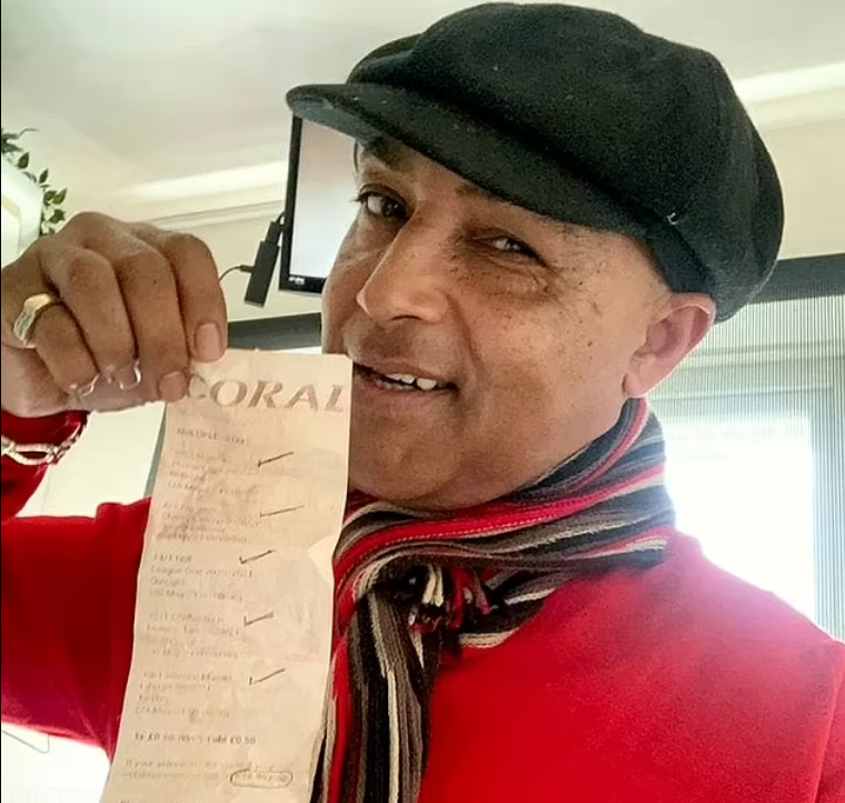 SEX TOY SALESMAN IS ON COURSE TO WIN A STAGGERING £12,500 FROM 50P FOOTBALL ACCUMULATOR