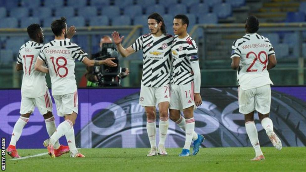 MAN UNITED THROUGH TO EUROPA CUP FINAL