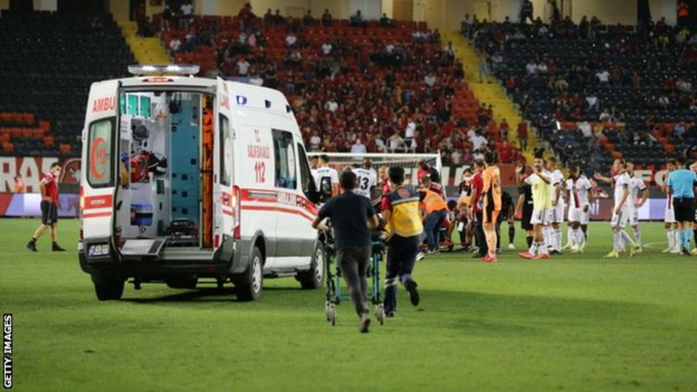 DR Congo's Fabrice N'Sakala, defender 'doing better' after collapsing during Turkish league match