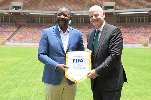 Fifa President salutes Federal Government's commitment to football