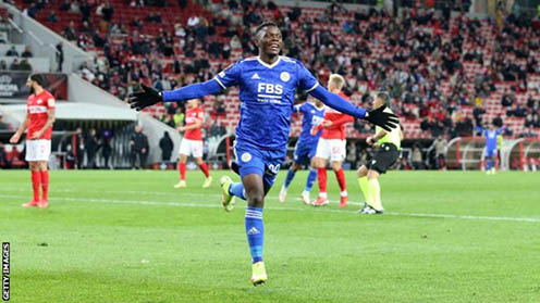 Zambia's Patson Daka becomes first Leicester player to score 4 goals in a single match in 63 years
