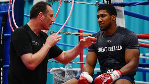 Anthony Joshua trains with Mike Tyson's former coach in America