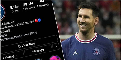 Messi effect: PSG reaps from having a G.O.A.T,  as twitter account blow up with over 12 million new followers in 2 months