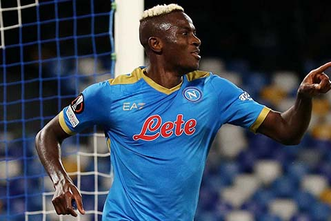 Osimhen is the star man in Napoli's 3-0 win in Europa Cup