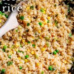 PINTEREST IMAGE - Fried rice with text overlay