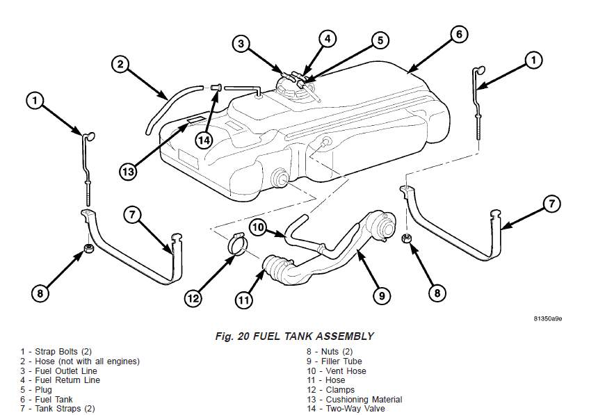 T1N Sprinter fuel tank assembly