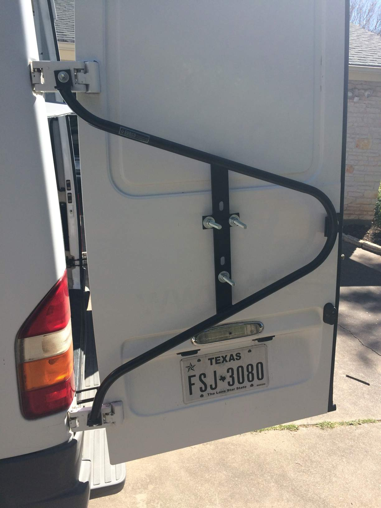 Mounting A Bike Stand Clamp To Rear Door Vandwellers