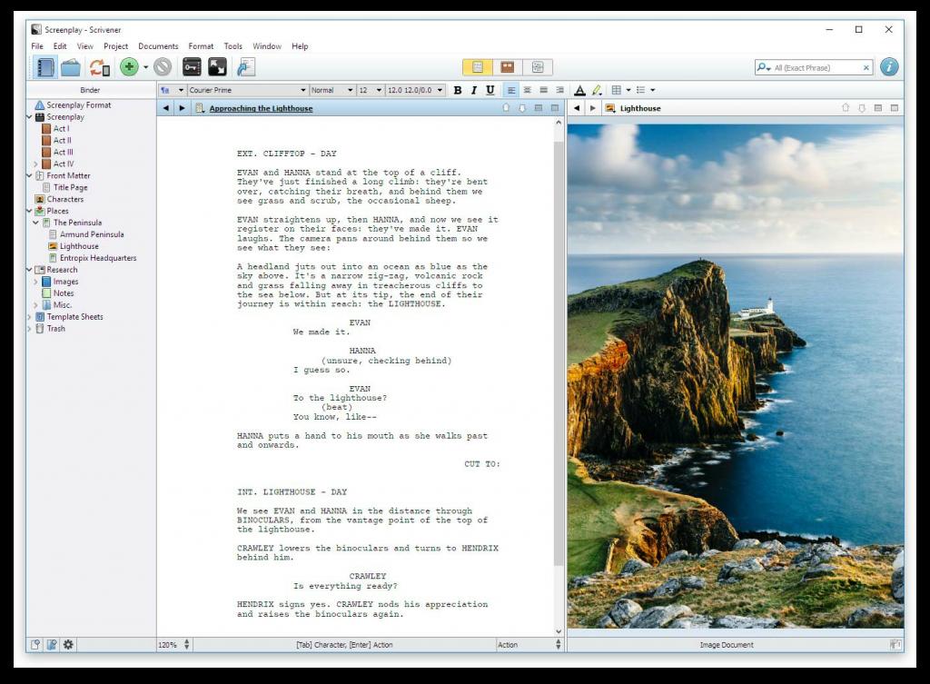 scrivener compiling screenshot