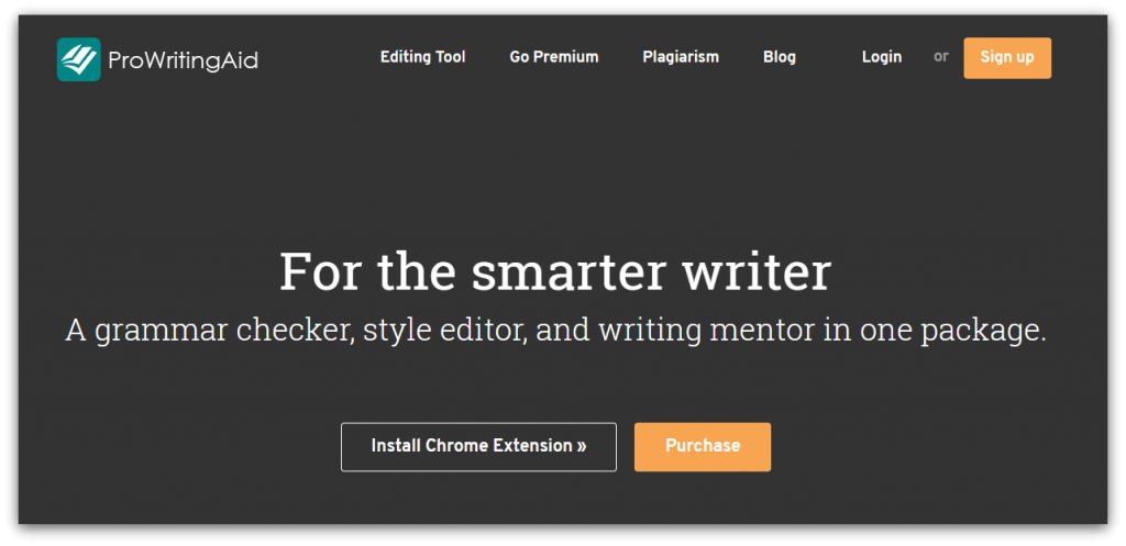 ProWritingAid home page screenshot