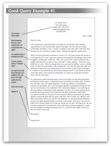 query letter sample