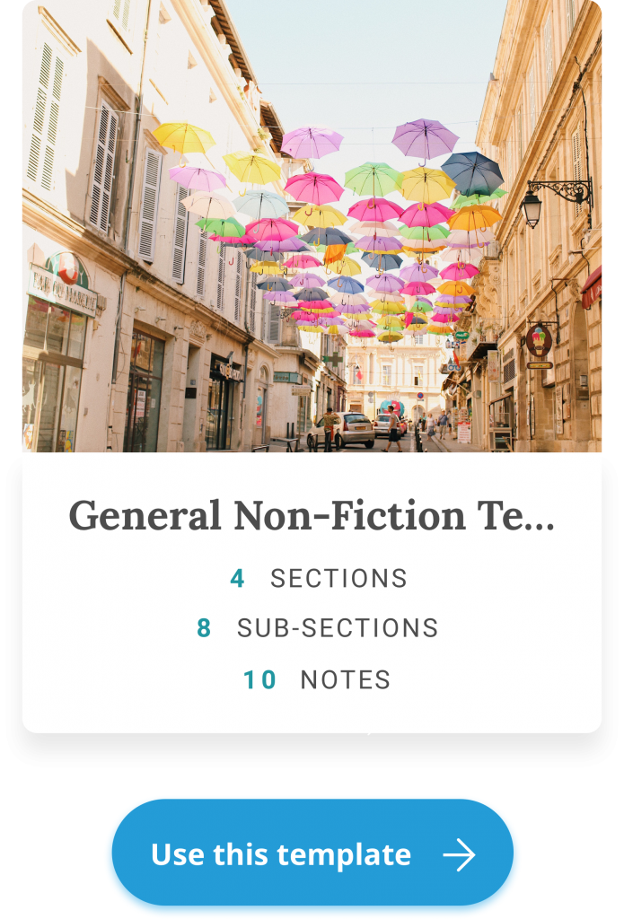 general nonfiction template