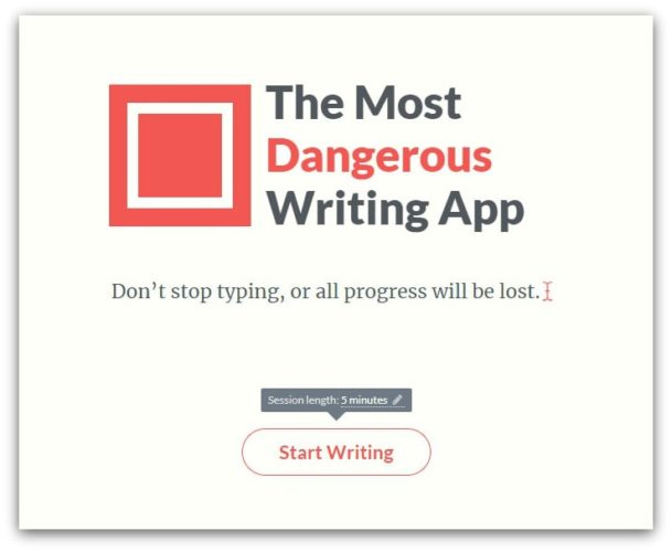 the most dangerous writing app writing tool