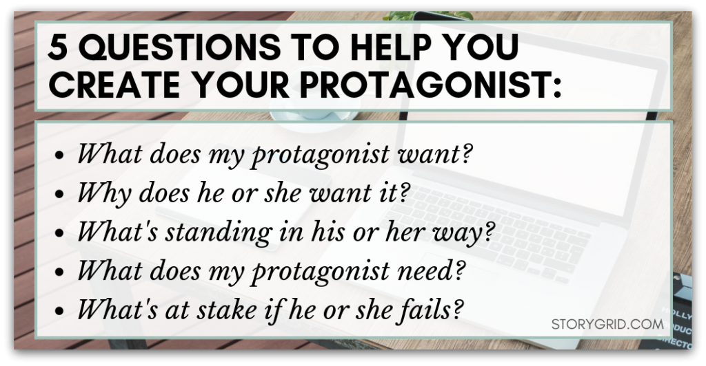 questions to ask yourself when creating a protagonist
