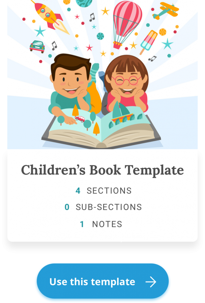 children's book template
