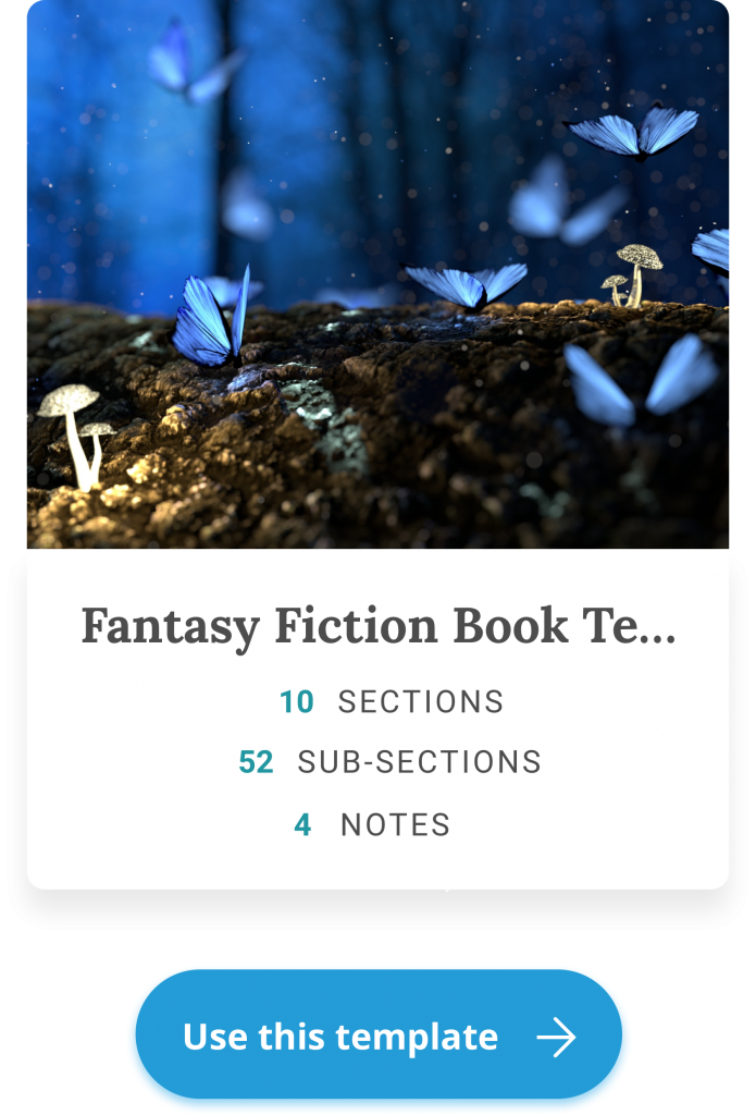 fantasy novel writing template