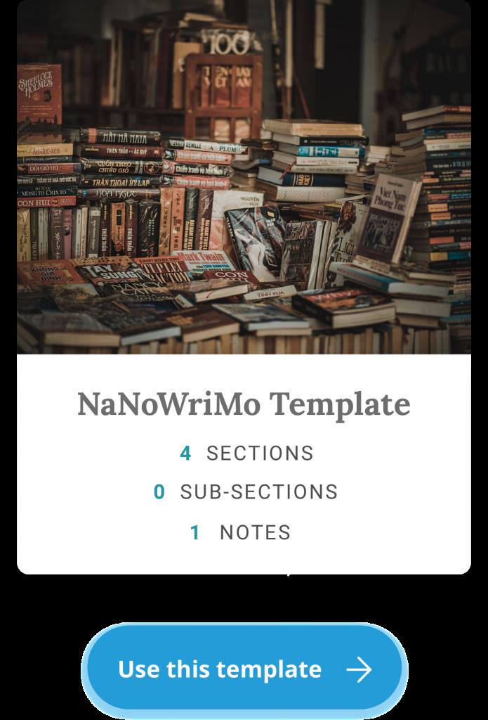 nanowrimo template