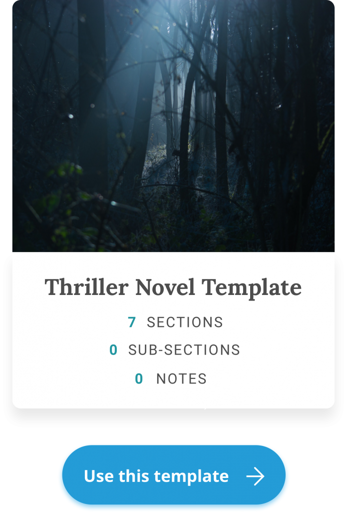 thriller novel template