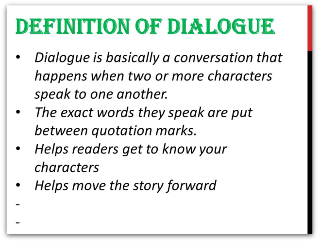 what is a dialogue