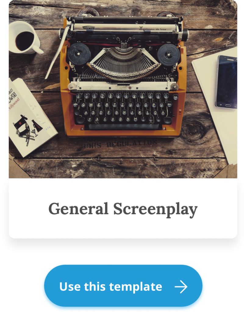 screenplay writing template
