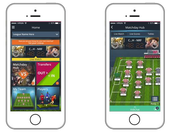 Dugout FC Mobile App