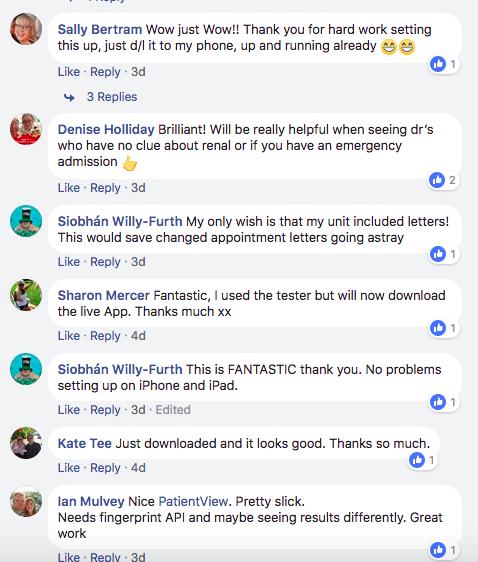 PatientView on Facebook