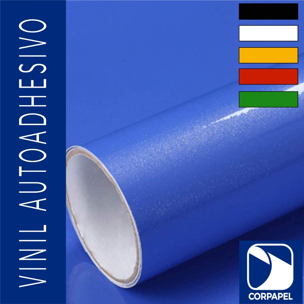 Vinil Adhesivo Brillante Azul
