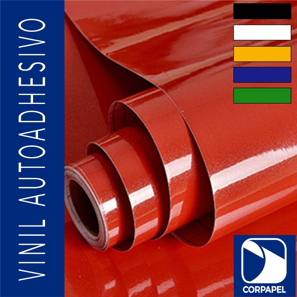 Vinil Adhesivo Brillante Rojo