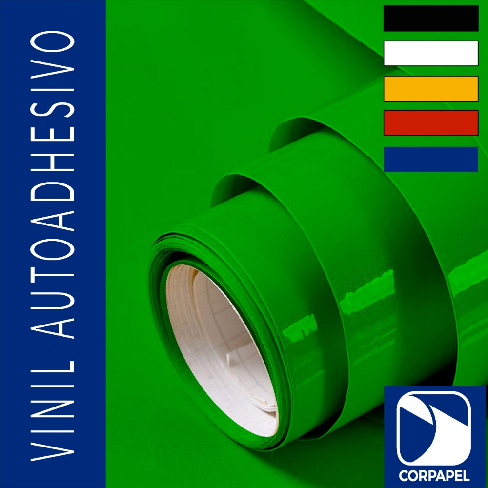 Vinil Adhesivo Brillante Verde