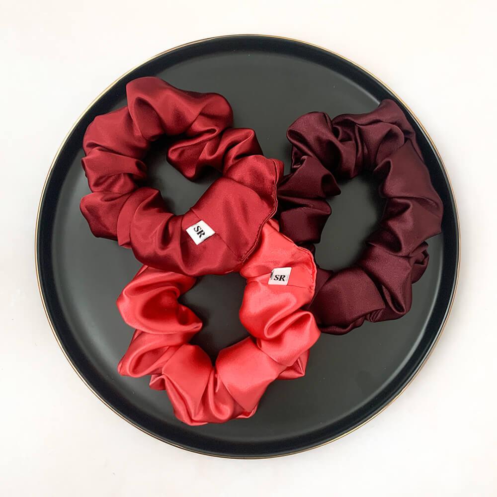 Pack Oferta Scrunchies Diseños 90s y Red Red Wine