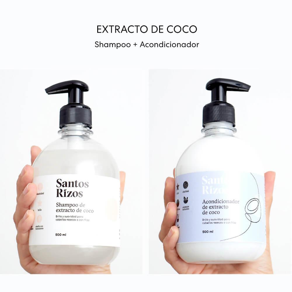 Shampoo + Acondicionador de Extracto de Coco 500ml