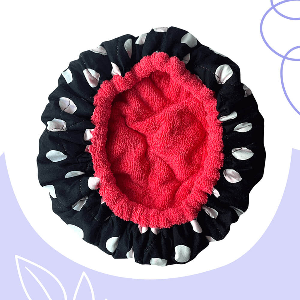 Gorro térmico (Exterior de algodón, interior de microfibra, relleno de linaza)