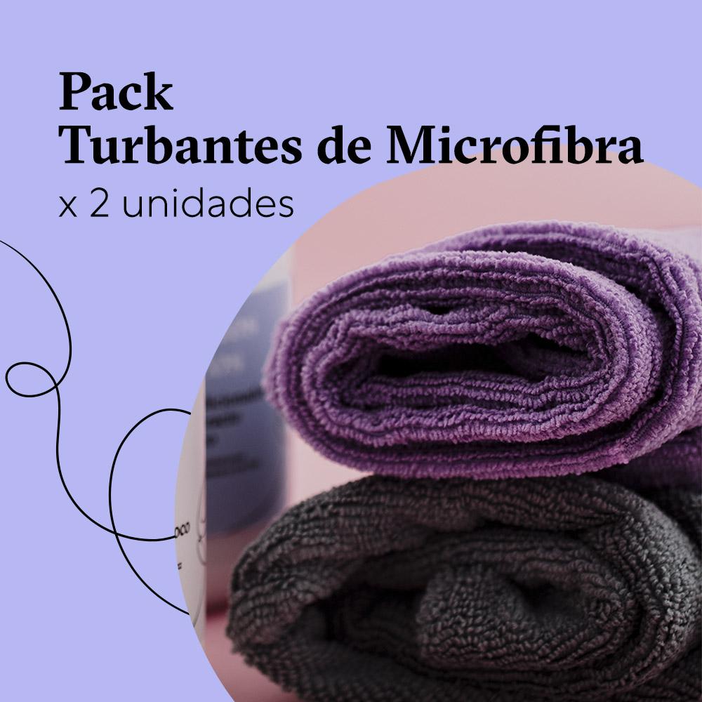 Pack Turbantes de Microfibra x 2 unidades