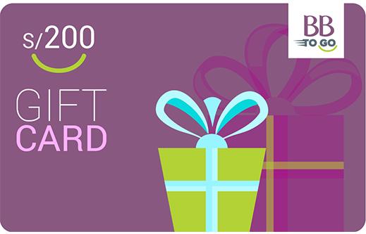 GIFT CARD S/200 MORADO