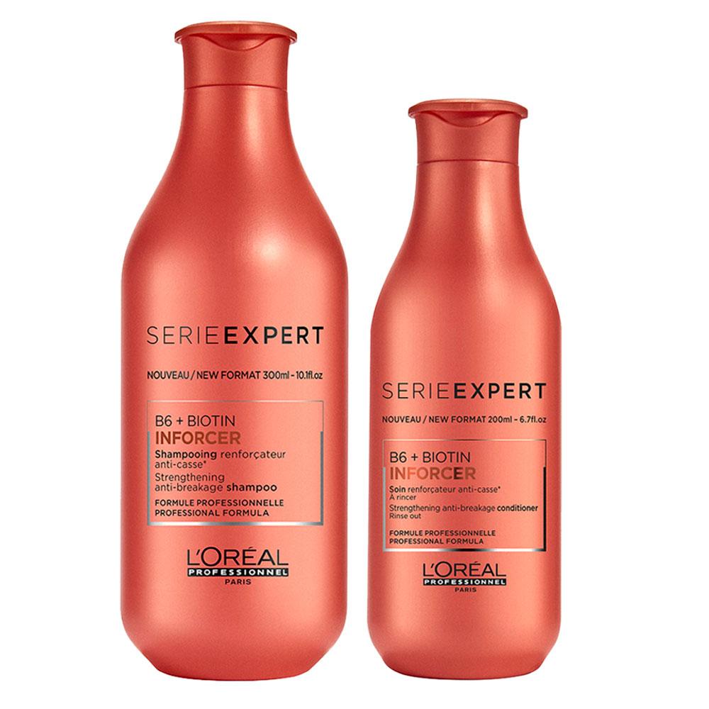 Pack L'Oréal Professionnel Inforcer Shampoo 300 ml + Acond. 200 ml