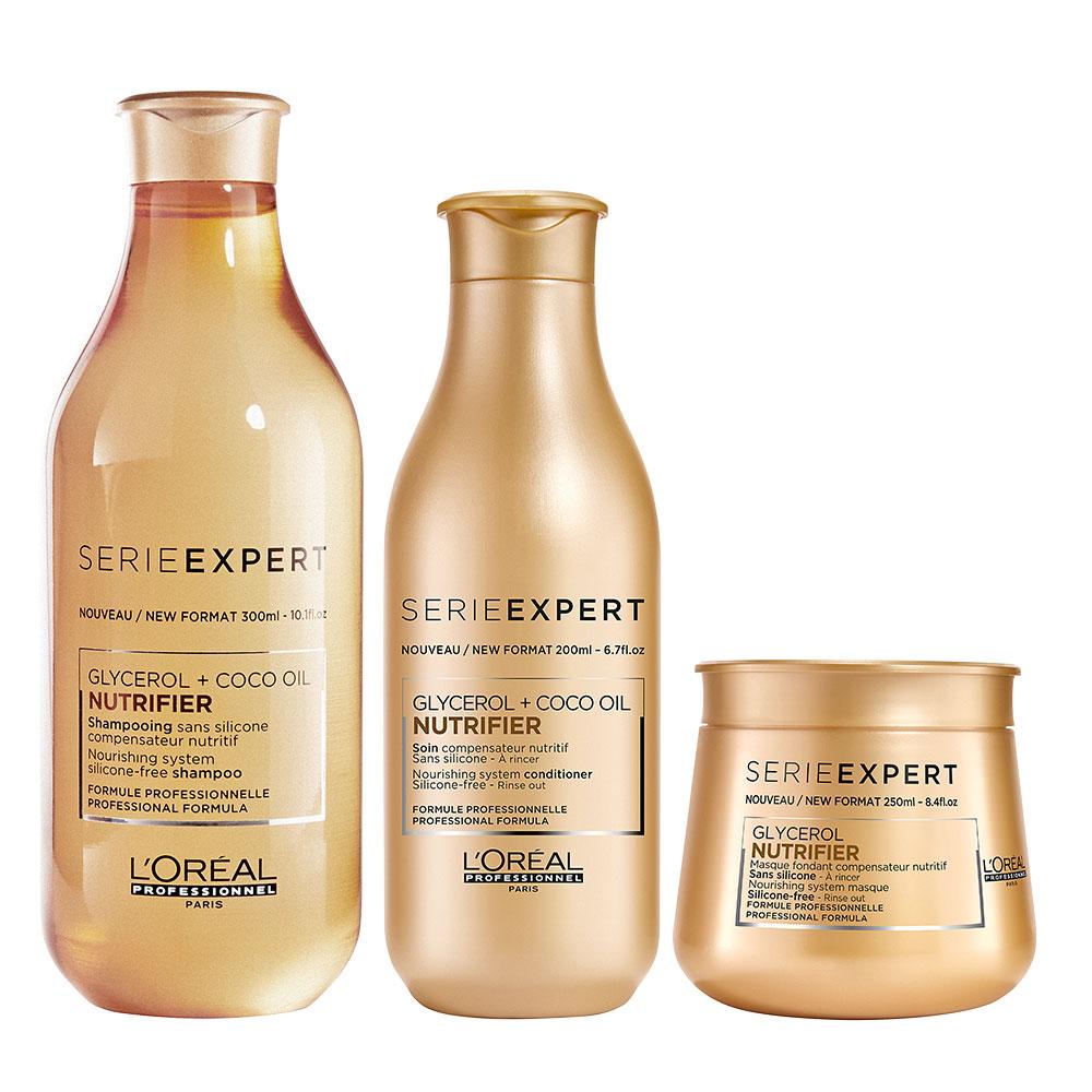 Pack L'Oréal Professionnel Nutrifier Shampoo 300 ml + Acond. 200 ml + Masc.
