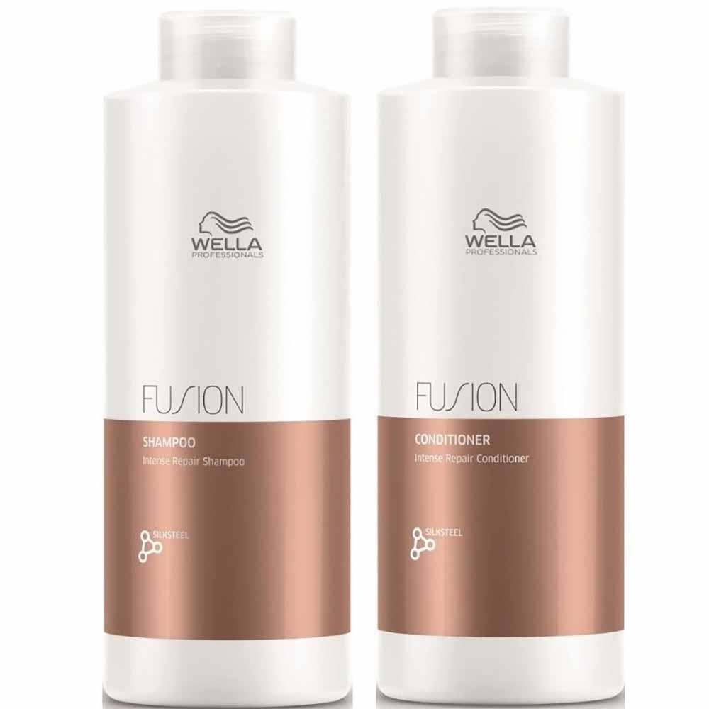 Pack Wella Fusion Shampoo 1 L + Acond. 1 L
