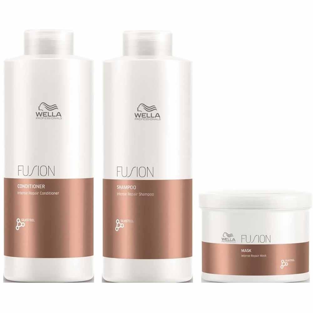 Pack Wella Fusion Shampoo 1 L + Acond. 1 L + Mascarilla 500 ml