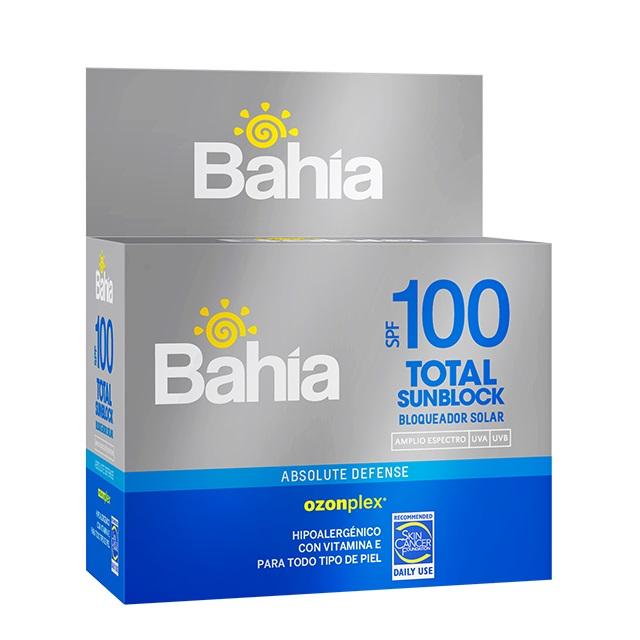 Bloqueador Bahía Total SunBlock SPF 100 - 20 sachet de 10g