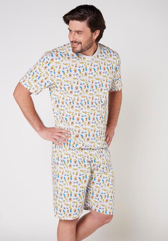 Pijama Caballero S7761 Algodón