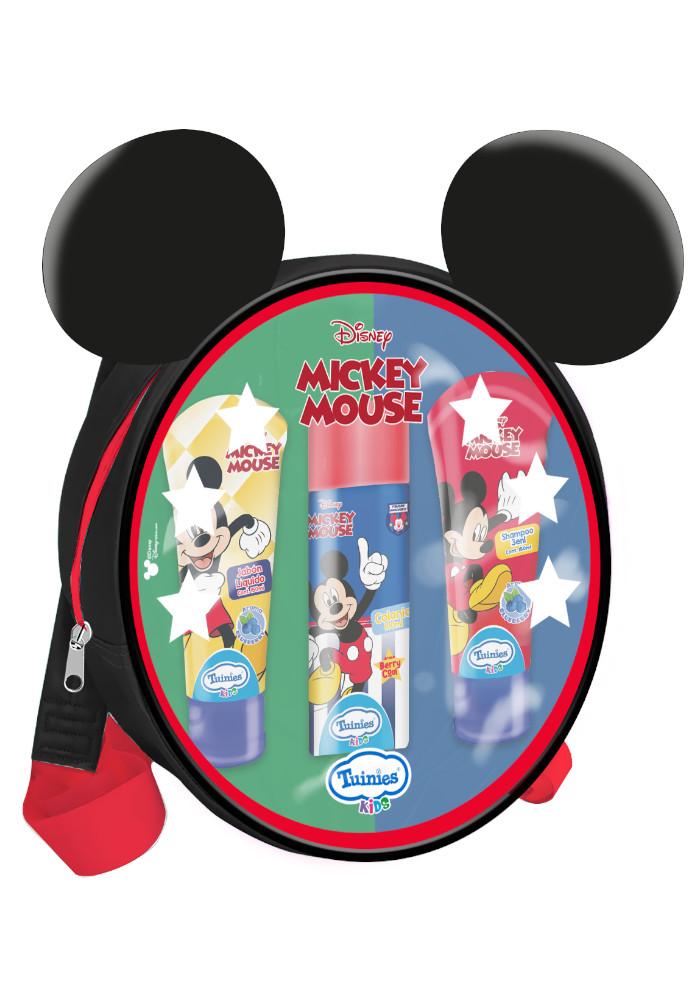 Set Mochila Mickey(1 Colonia 100ml - Shampoo 3 En 1 De 150ml - Jabón Líquido 150ml)