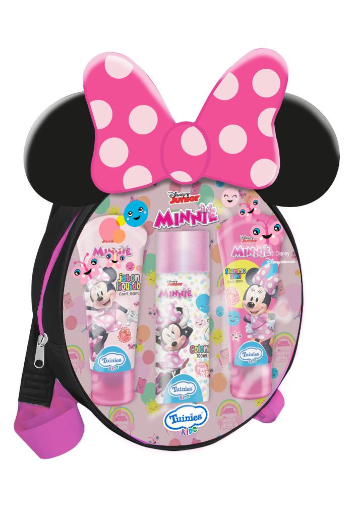 Set Mochila Minnie(1 Colonia 100ml - Shampoo 3 En 1 De 150ml - Jabón Líquido 150ml)