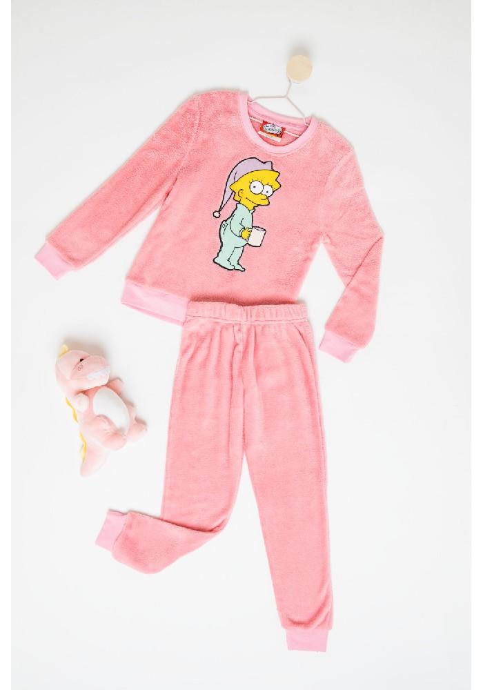 Pijama Niña S6351 Coral Fleece