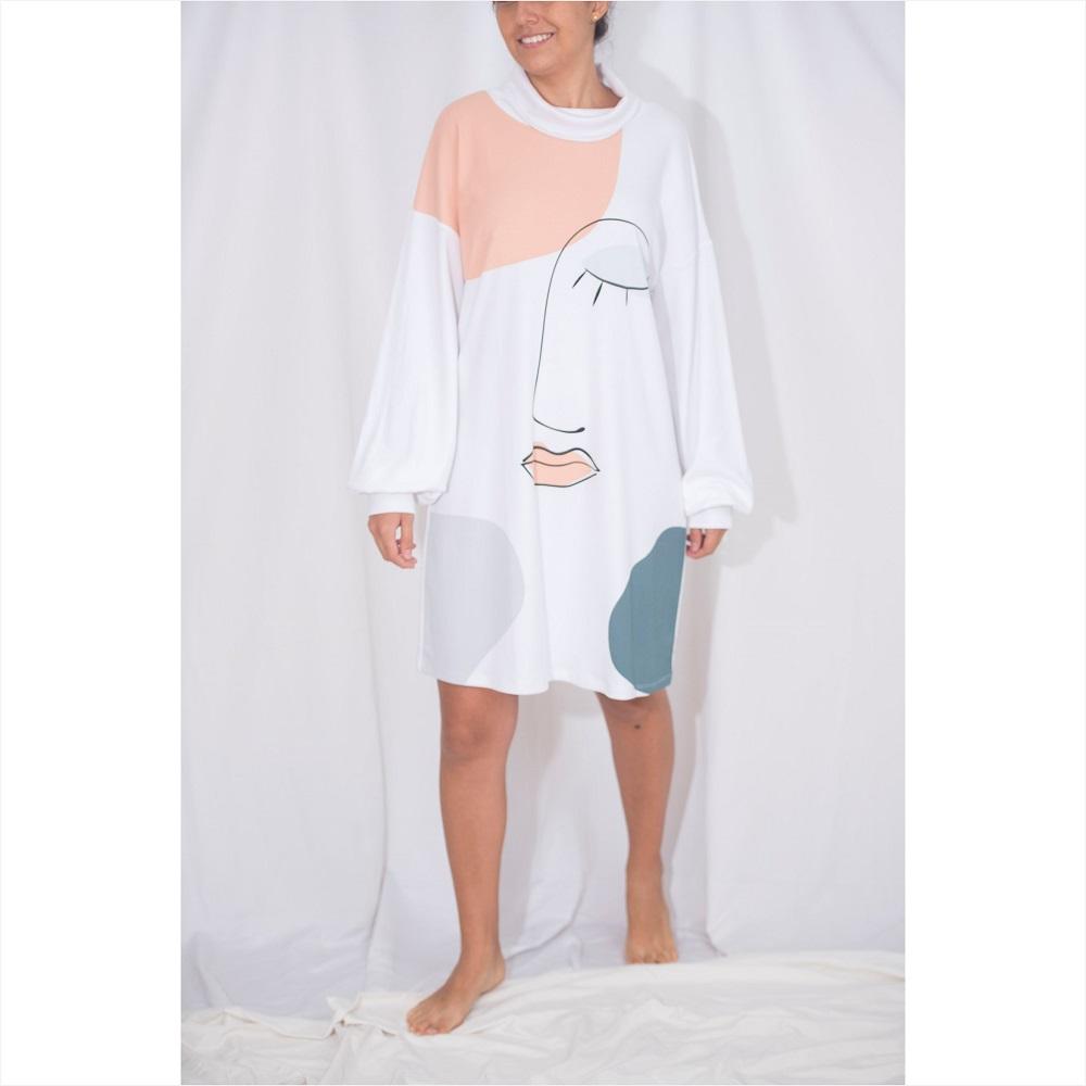 Polera/vestido Pascale print OI21*Más colores disponibles